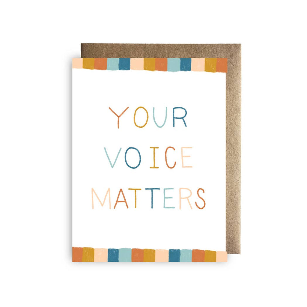 Your Voice Matters Card