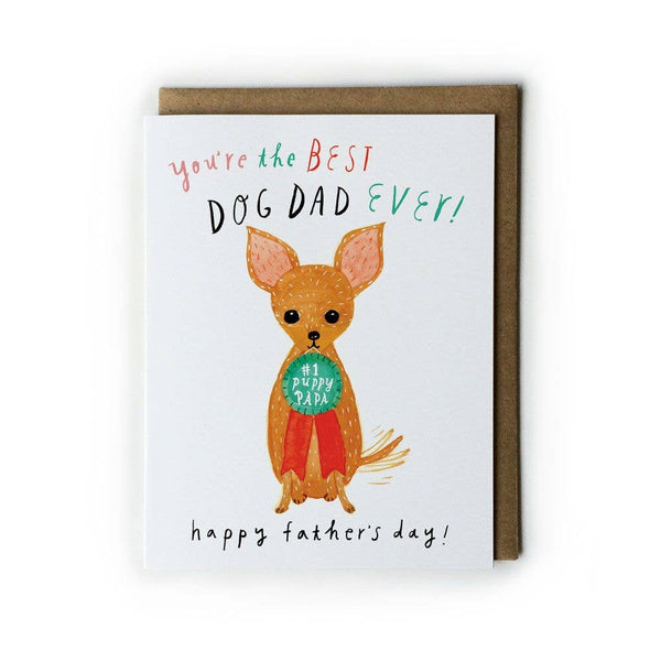 Puppy Papa Fathers Day Card