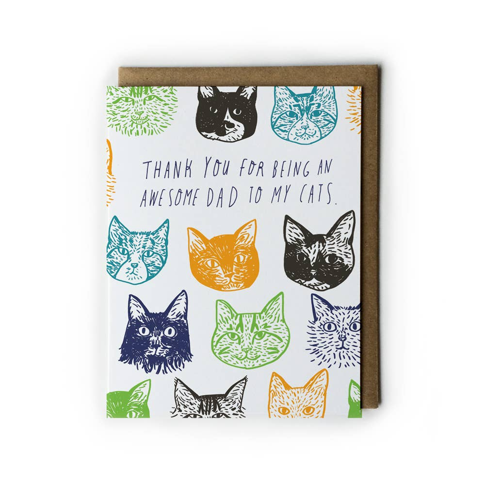 Cat Father's Day Card