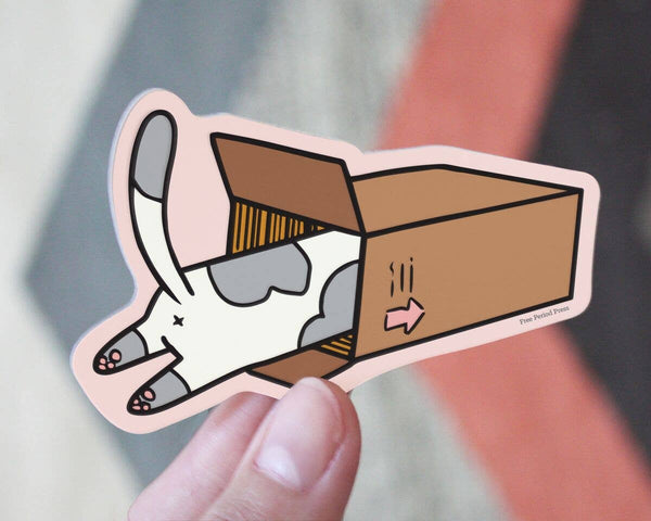 Cat Box Sticker