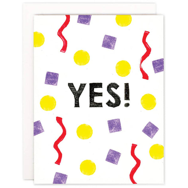 Yes! Confetti Card