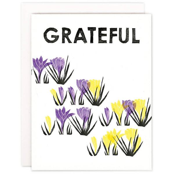 Grateful Crocus Card