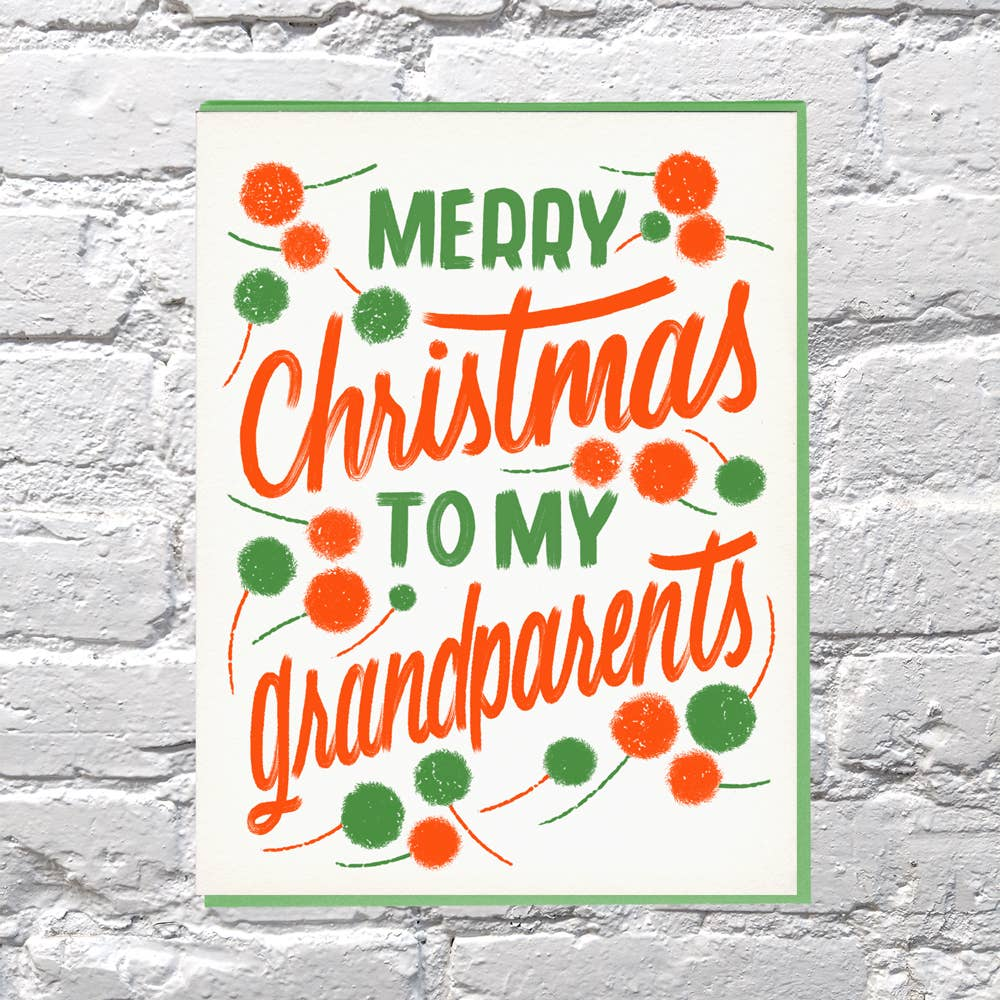 Merry Xmas Grandparents Card