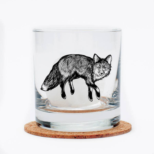Fox Rocks Glass