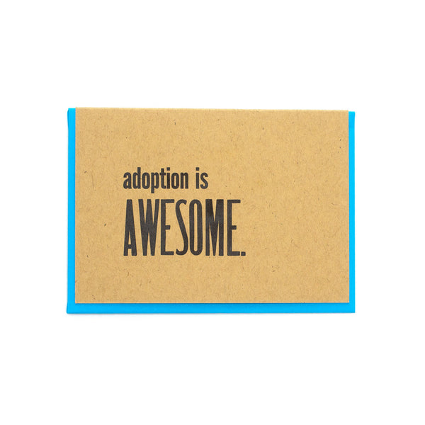Adoption is Awesome Card