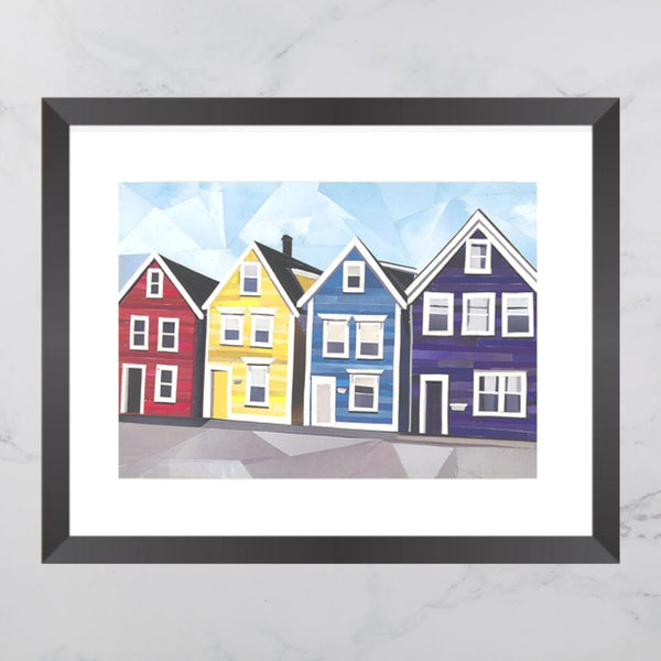 Agricola Street House Collage Print