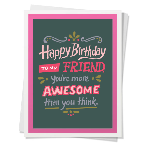 Awesome Friend Birthday Card