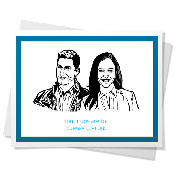 B99 - Jake & Amy Toit Nups Wedding Card