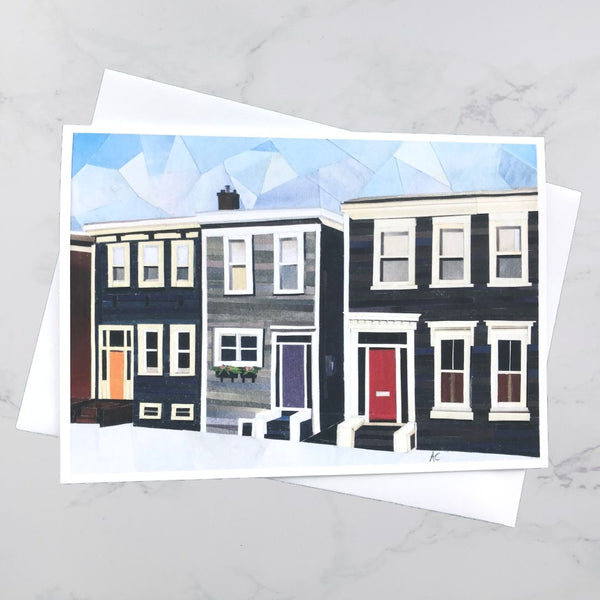 Bauer Street House Collage Card