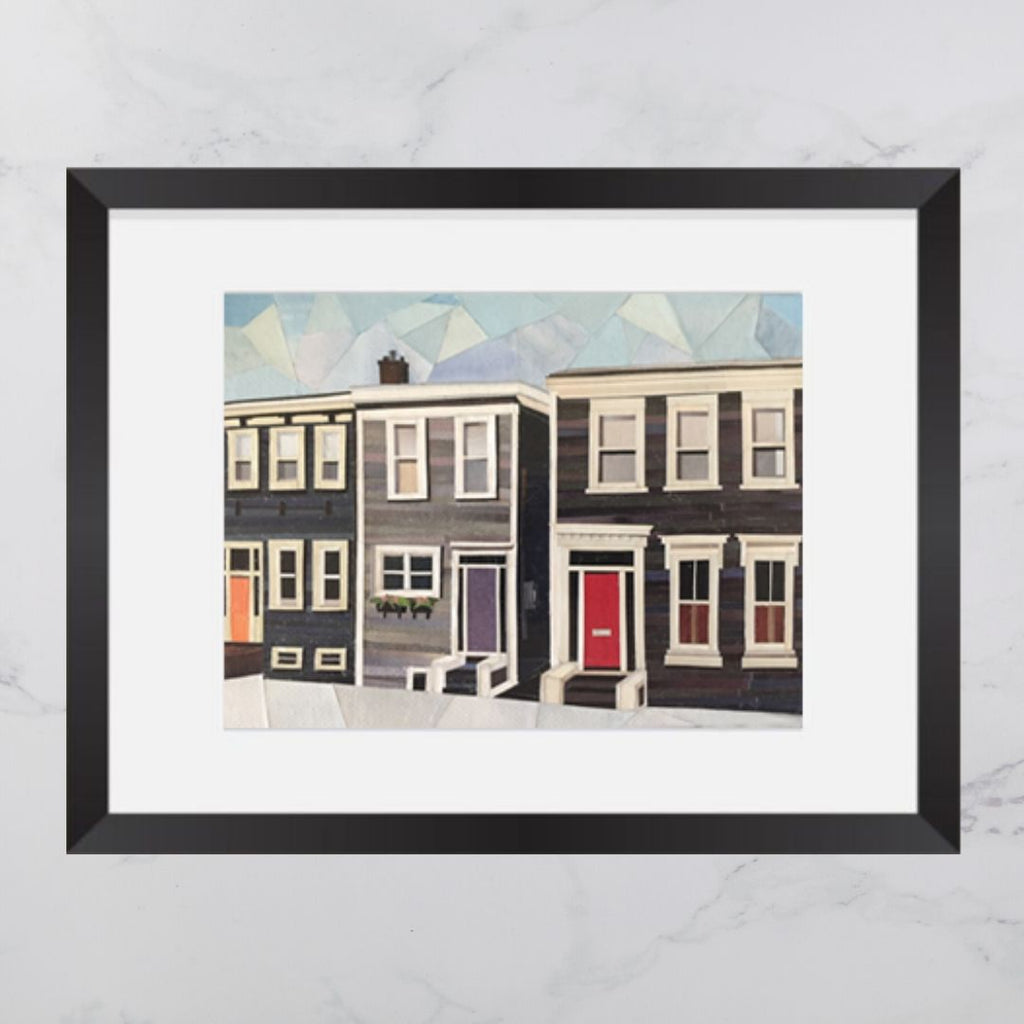 Bauer Street House Collage Print