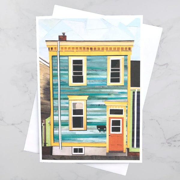 Bloomfield Street House Collage Card