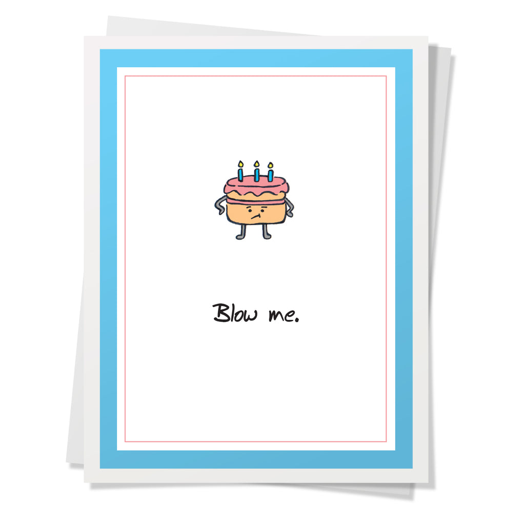 Blow Me Cake Birthday Card