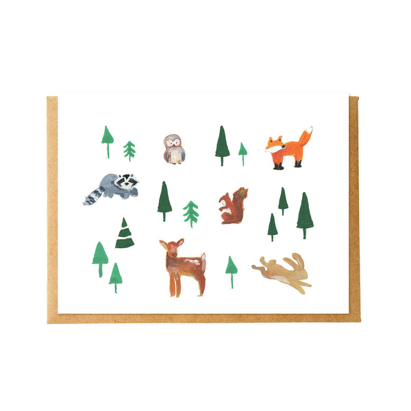 Forest Friends Animals Card