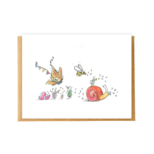 Insect Parade Birthday Card