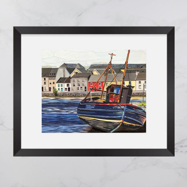 Claddagh Boat Collage 8x10 Print