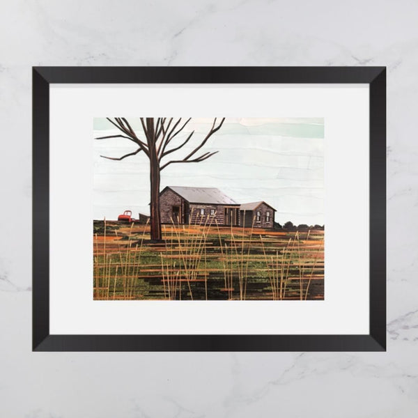 Crouse's Settlement Barns Collage 8x10 Print