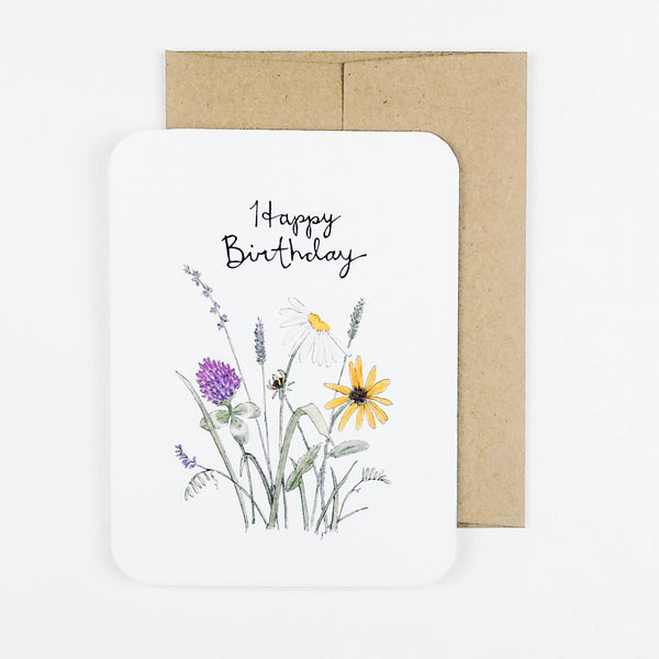 Field Flower Bday Card