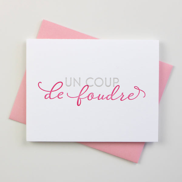 Love At First Sight French Card