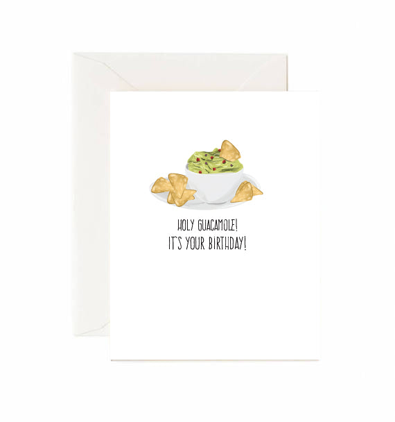 Guacamole Birthday Card