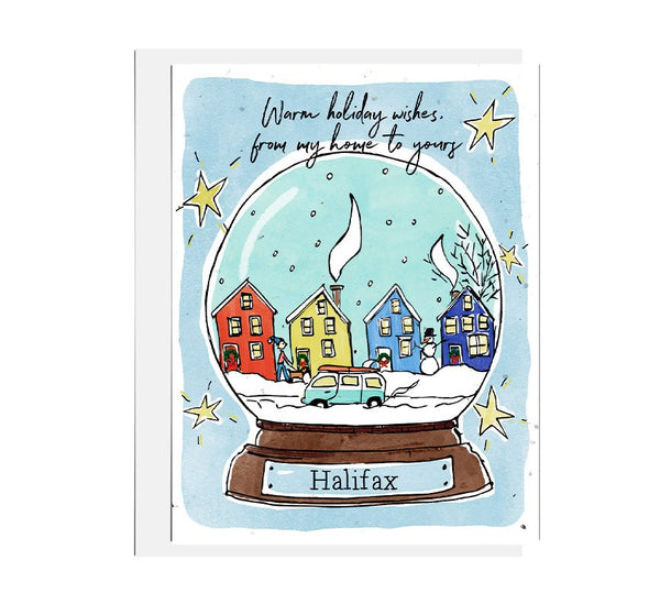 Halifax Snow Globe Holiday Seed Card