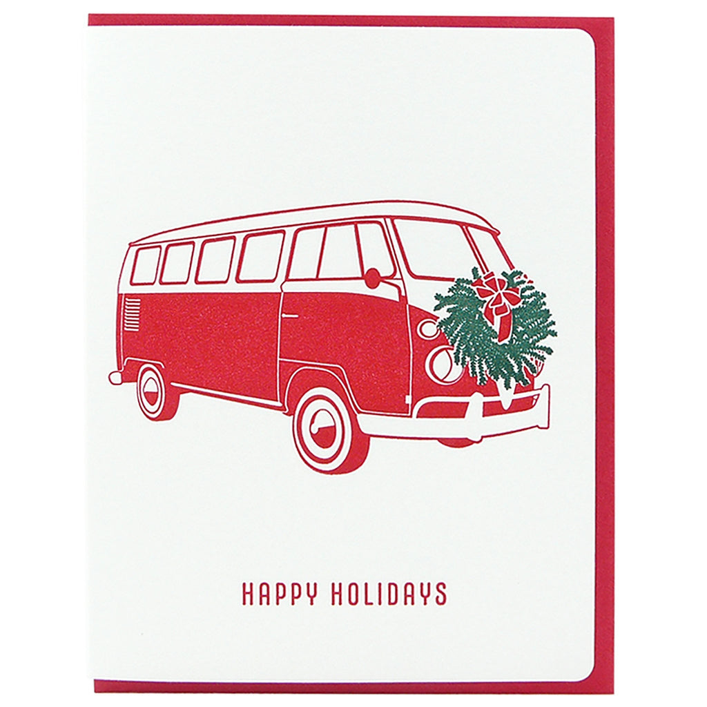 Happy Holidays VW Van Card