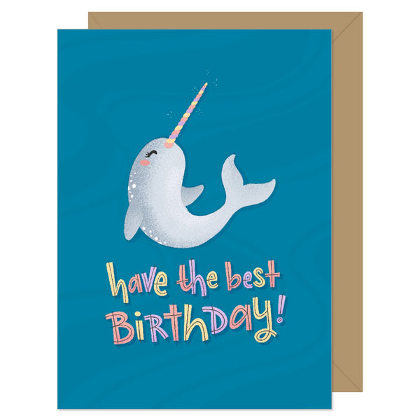 Narwhal Best Birthday Card