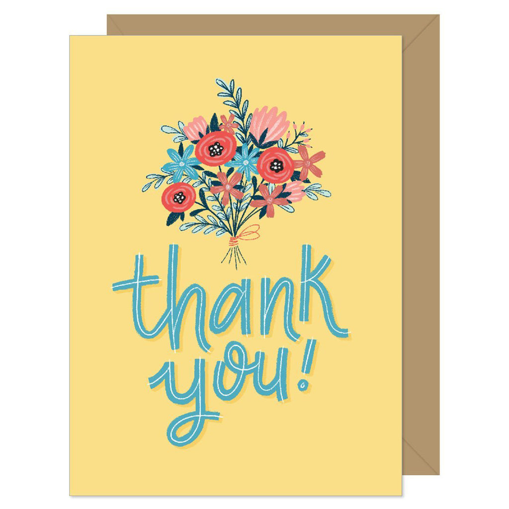 Yellow Bouquet Thank You Card