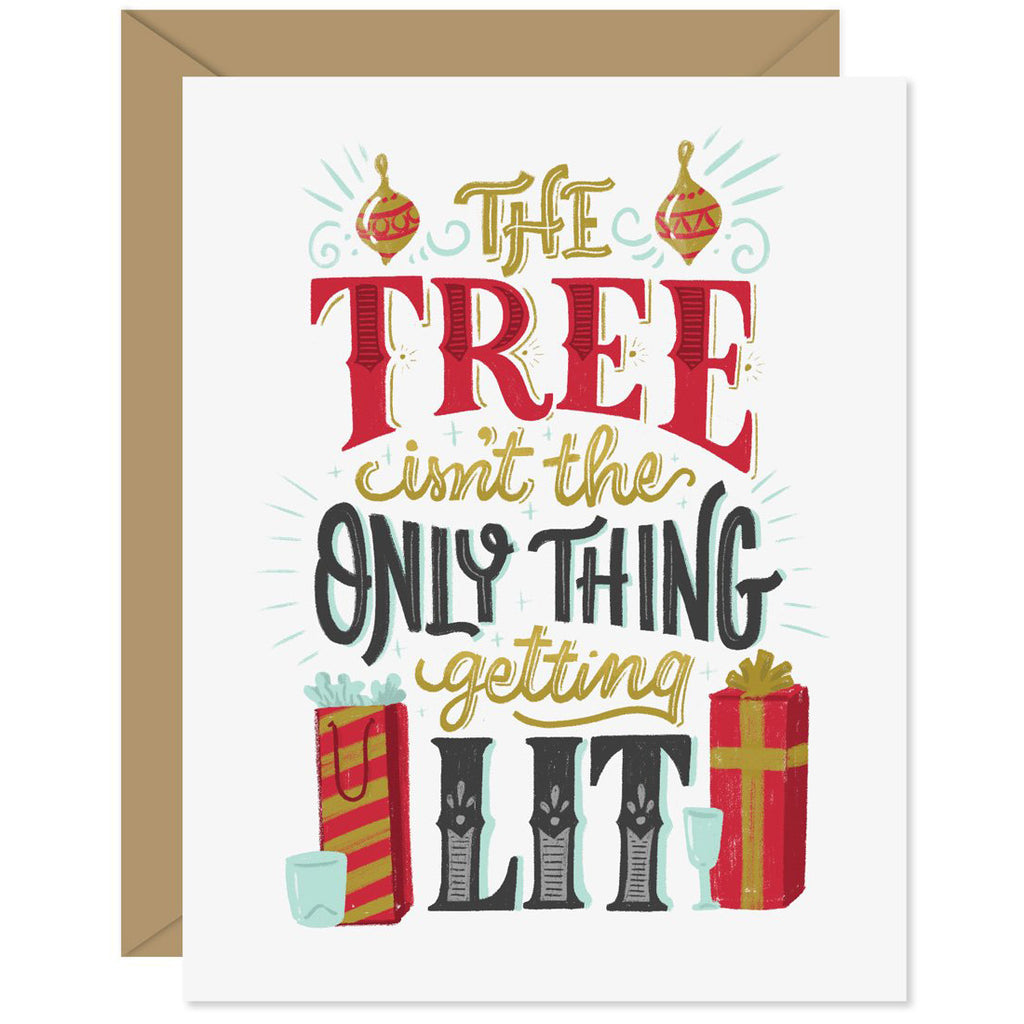 Getting Lit Tree Holiday Card