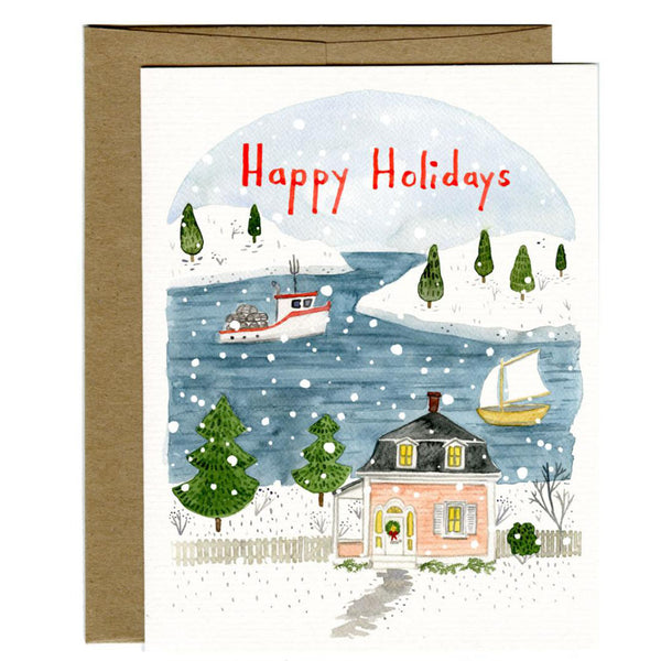 Happy Holidays Harbour Card