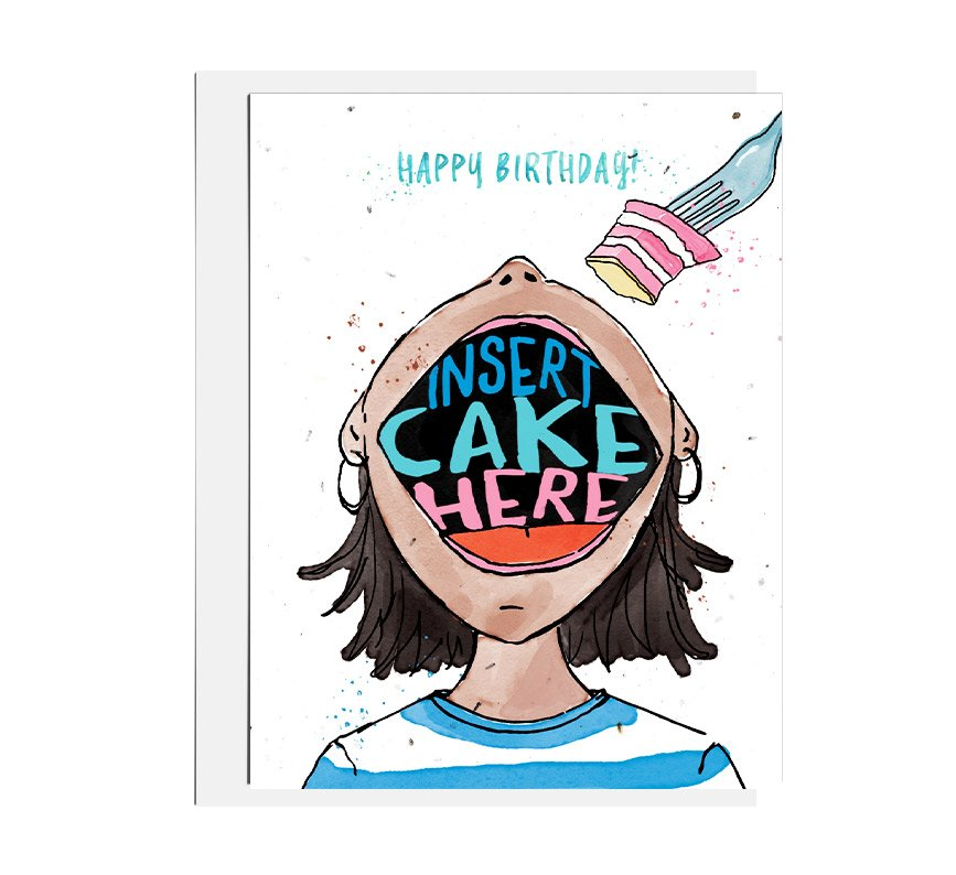Insert Cake Seed Card