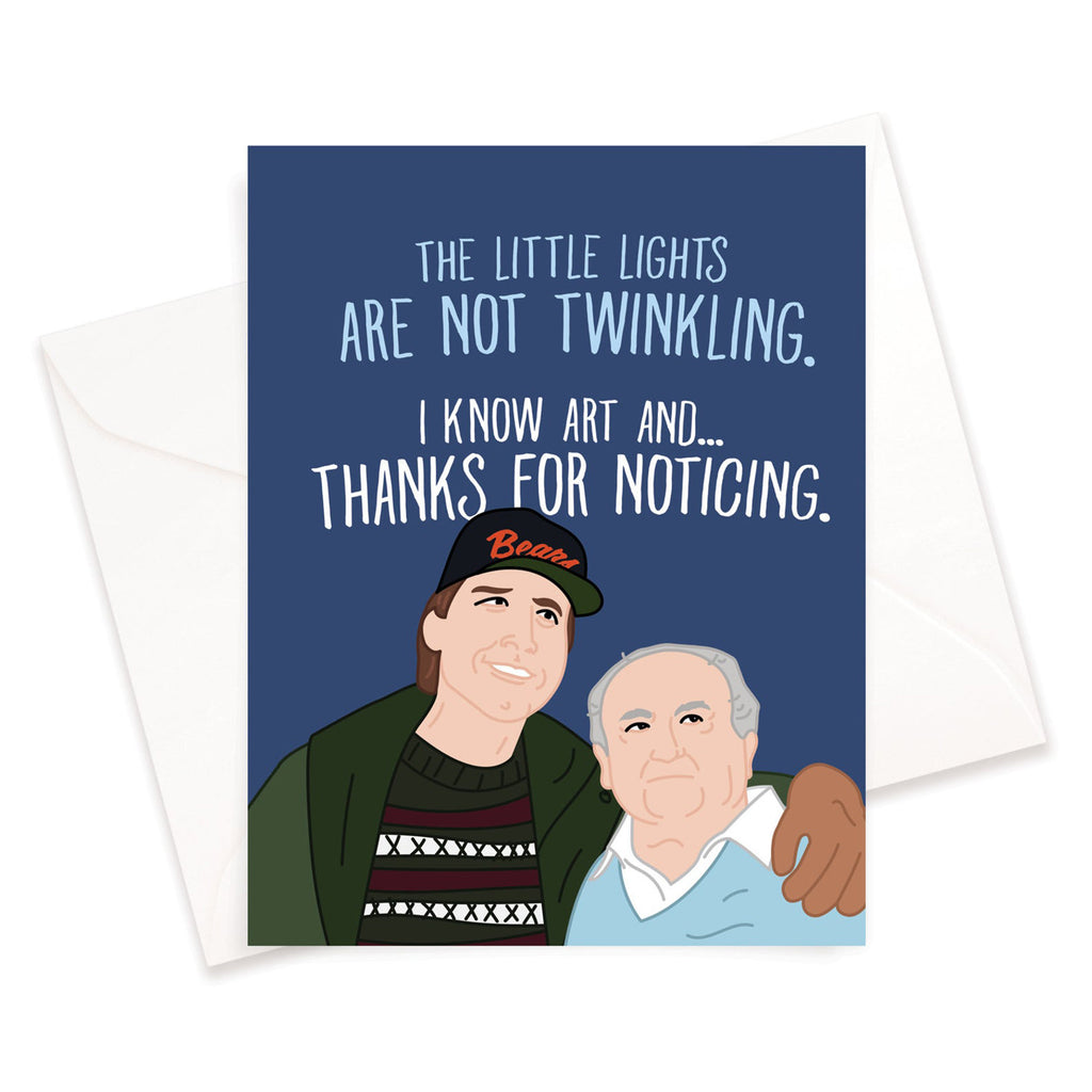 Not Twinkling Lampoon Christmas Card