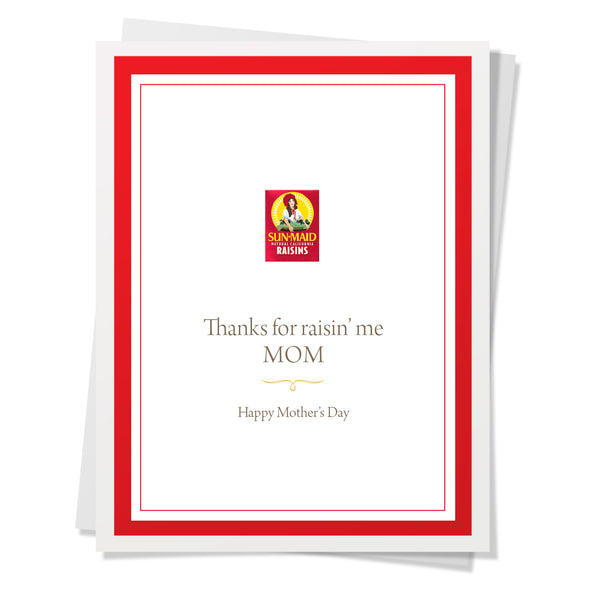 Raisin Me Mom Card