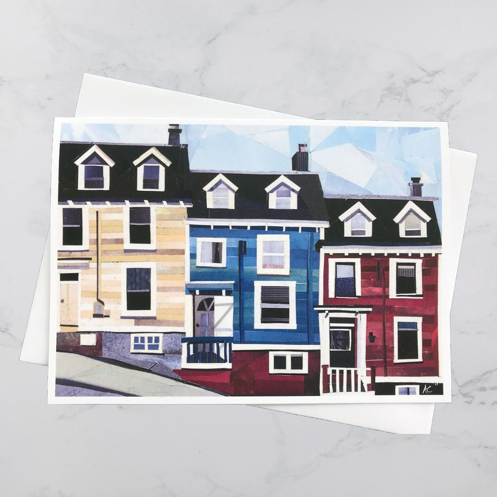 Maritime House Collage Card