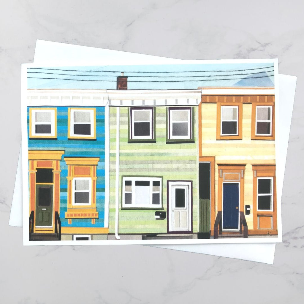 May Street House Collage Card