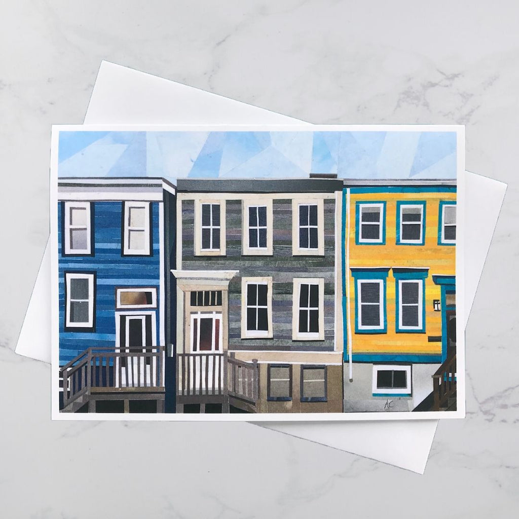 Maynard Street House Collage Card