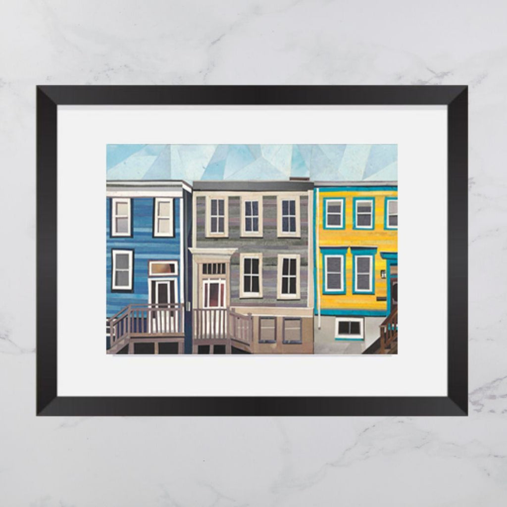 Maynard Street House Collage 8x10 Print