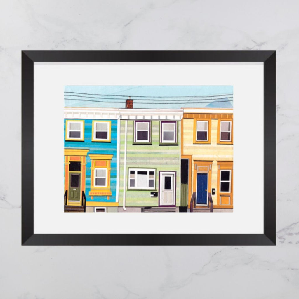 May Street House Collage Print