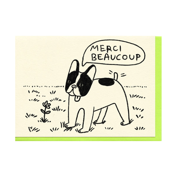 Merci Beaucoup Frenchie Card