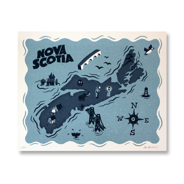 Nova Scotia Map Print