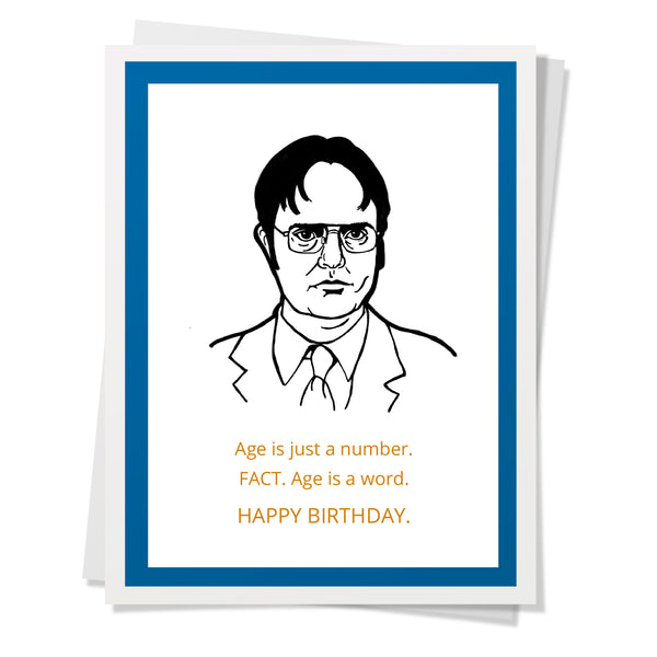Office - Dwight Age Birthday Card