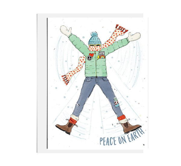 Peace Snow Angel Seed Card