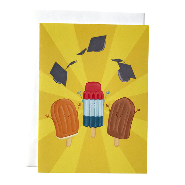 Popsicle Graduation Card