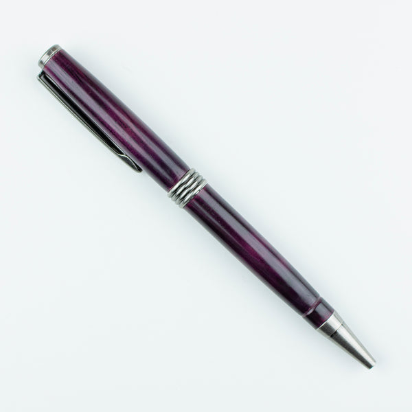 Hand Turned Pen - Purple Heart