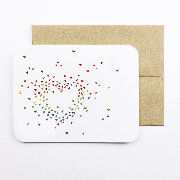 Rainbow Hearts Card