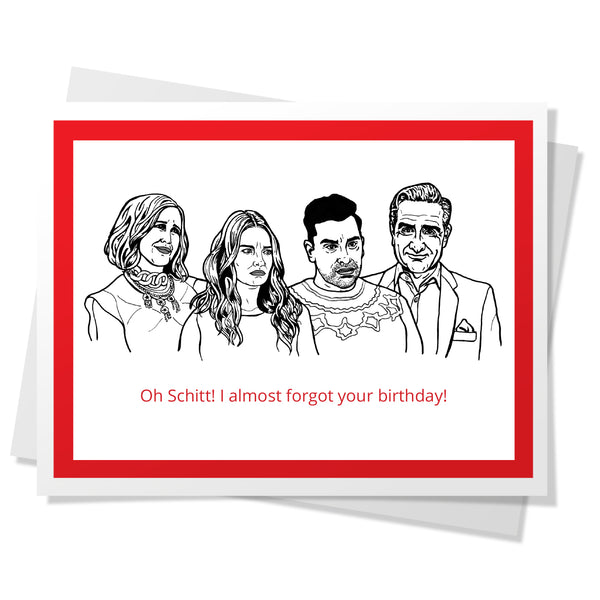 SC - Oh Schitt! Birthday Card