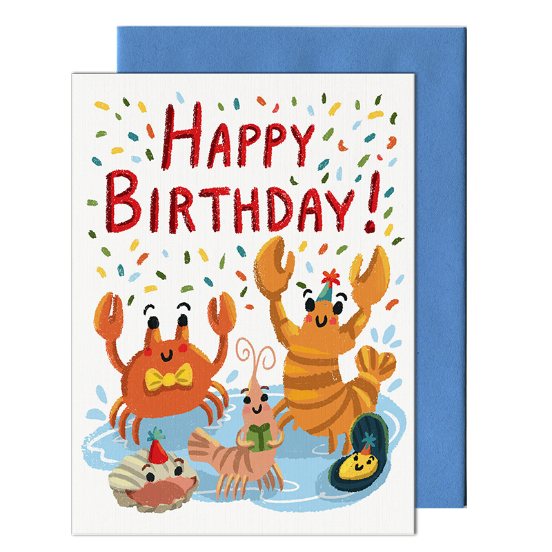 Seafood Birthday Card