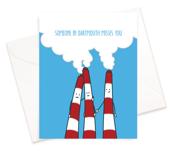 Miss You From Dartmouth Card