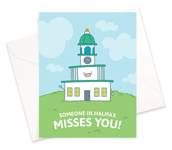 Miss You From Halifax Card