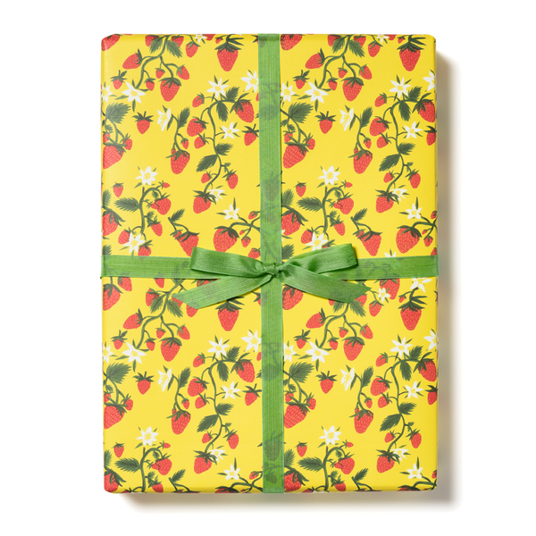 Strawberry Patch Gift Wrap