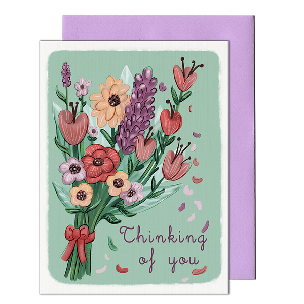 Thinking Of You Bouquet Card